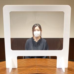 飛沫防止 パーテーション 卓上パネル デスク 【窓付き】DX ロゴ・文字入れ・色替え可能|technosp