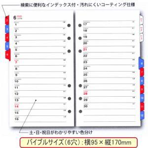システム手帳リフィル 2019年 バイブルサイズ 月間ダイアリー3 バインデックス 049|techouichiba