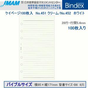 システム手帳 バイブルサイズ リフィル ケイページ100枚入 バインデックス|techouichiba