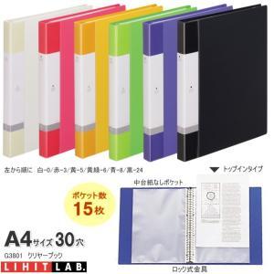 バインダーファイルA4 A4 30穴 付属ポケット15枚|techouichiba