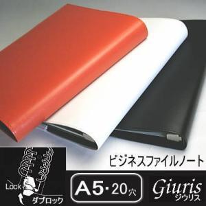 ファイルノート ジウリス ダブロック A5 20穴 バインダー|techouichiba
