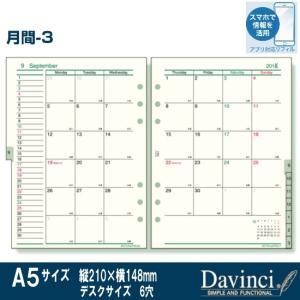 システム手帳リフィル 2019年 A5サイズ 月間-3 ダ・ヴィンチ DAR1906|techouichiba