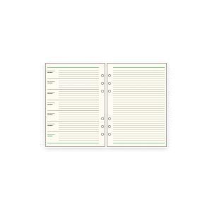 システム手帳 リフィル A5 フリーウィークリースケジュールB ダ・ヴィンチ|techouichiba
