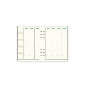 システム手帳 リフィルA5 フリーマンスリースケジュールA ダ・ヴィンチ|techouichiba