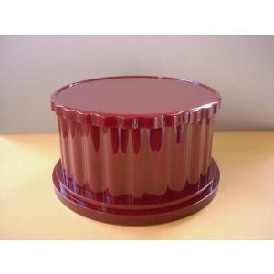 ディスプレイ回転台Doris ワインレッド 店舗 展示 什器 ターンテーブル|tecoshop