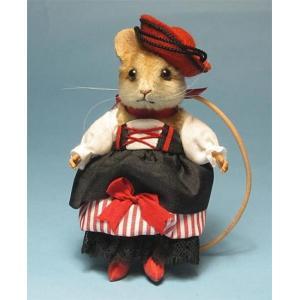 R・ジョンライト カンタディーナ マウス R.JohnWright Doll Contadina Mouse【C】|teddy