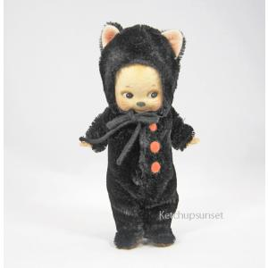 R・ジョンライト ドール キューピー ブラックキャット R.John Wright Doll Kewpie Black Cat|teddy