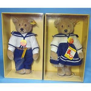 SALE!! テディベア シュタイフ 1986年〜1989年 世界限定 Teddy Bear with Sailor Dress セット|teddy