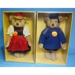 SALE!! テディベア シュタイフ 1986年〜1989年 世界限定 Teddy Bear in Black Forest Costume セット|teddy