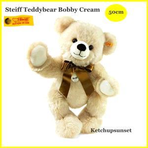 シュタイフ テディーベア ボビー クリーム 50cm Steiff Bobby|teddy