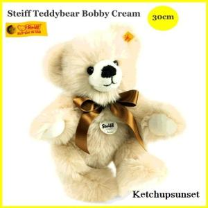 シュタイフ テディーベア ボビー クリーム 30cm Steiff Bobby|teddy
