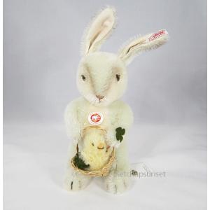 SALE!!シュタイフ ラビット クローバー バニー ウィズ バスケット うさぎのぬいぐるみ Steiff Clover Bunny with basket|teddy