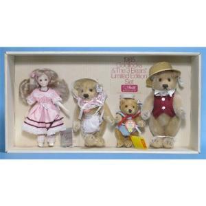 SALE!!テディベア シュタイフ 1985年 アメリカ 限定 GoldilocksBears with Doll|teddy