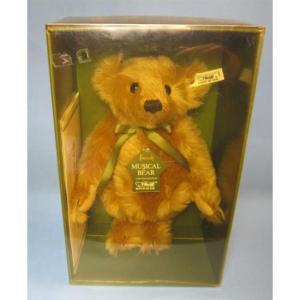 SALE!!テディベア シュタイフ 1990年 イギリス ハロッズ限定 MusialTeddyBear1904/05|teddy
