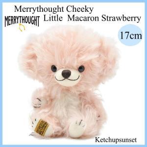 メリーソート チーキーリトルマカロン ストロベリー 17cm #28 2021年世界限定 メリーソート Merrythought テディベア ぬいぐるみ|teddy