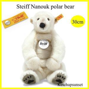 シュタイフ ナヌーク ポーラベア Steiff Nanouk polar bear  ホッキョクグマ くまのぬいぐるみ|teddy