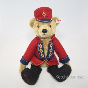 テディベア シュタイフ(steiff) 世界限定ナッツクラッカー テディベア(くるみ割り人形) Steiff Nutcracker Teddy くまのぬいぐるみ|teddy