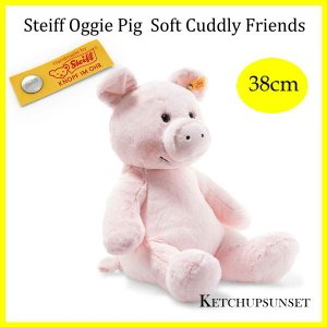 シュタイフ  ブタのオジー Steiff Oggie Pig Soft Cuddly Friends 38cm|teddy