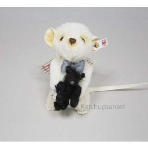 テディベア シュタイフ 世界限定 ピキーマウス ウイズ テディベア Steiff Peky Mouse with Teddy Bear|teddy