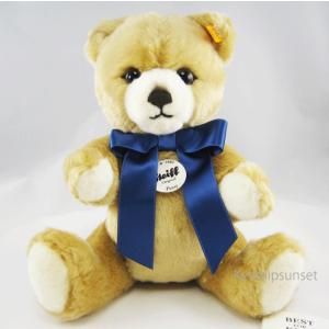Steiffシュタイフ テディベア ペッツィー ブロンド  28cm Steiff petsy Blond 青いリボン|teddy