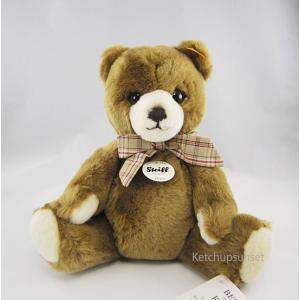 Steiffシュタイフ テディベア ペッツィー ブラウン  28cm Steiff petsy Blown チェックリボン teddy