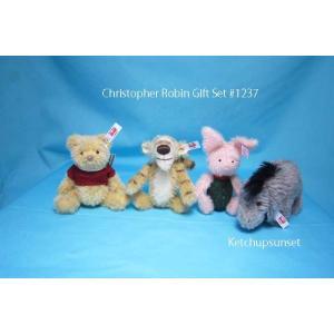 シュタイフ 2018年 シュタイフ くまのプーさん クリストファー・ロビン ギフトセット Steiff Christopher Robin Gift Set|teddy