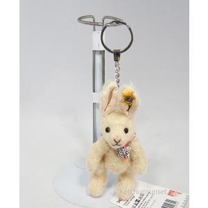 シュタイフ モヘア タイニー ラビット ペンダント Steiff Tiny Rabbit pendant  うさぎのキーリング|teddy