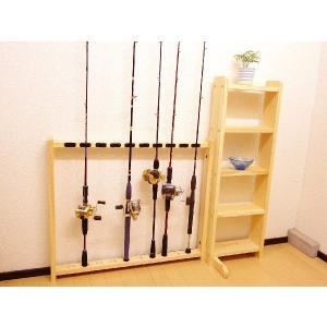 【標準・1ピース用】RS-5 10本収納 ヒノキ無垢材 【家具職人の作ったロッドスタンド】|tedukurikaguueda