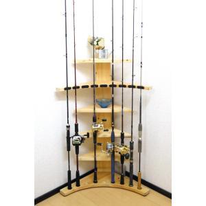 【太穴・2ピース用】 RS-4 9本収納  ヒノキ無垢材 【家具職人の作ったロッドスタンド】|tedukurikaguueda