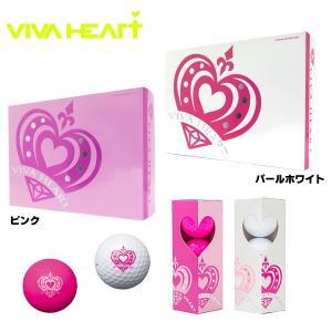 VIVA HEART ビバハート レディースゴルフボール VHL001 ゴルフボール 1ダース|teeolive-kobe