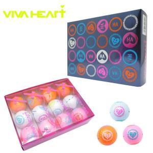 VIVA HEART ビバハート レディースゴルフボール マルチカラー VHL002 ゴルフボール 1ダース|teeolive-kobe