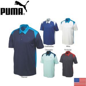在庫処分 PUMA 569107 BLOCKED POLO GOLF SHIRT プーマ ブロックド 半袖ポロ US|teeolive