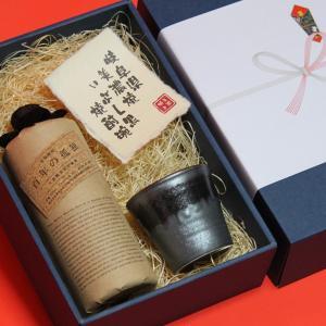 お中元 熨斗+記念に残る 美濃焼陶器付き 麦焼酎 百年の孤独...