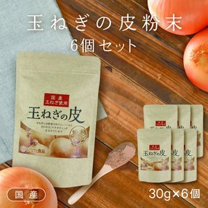 【お徳用】【6袋セット】ケルセチン豊富な国産玉ねぎの皮の粉末【ネコポス全国送料無料】