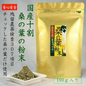 桑の葉 粉末 国産100% 100g|tegeyokaichiba