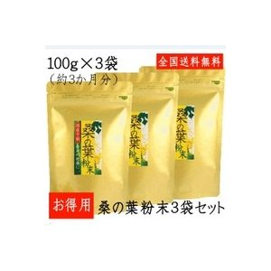 桑の葉 国産 粉末 100g×3袋 お得用|tegeyokaichiba
