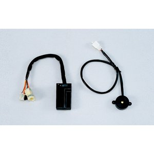 ◇センサーが振動を検知すると警告音が鳴る盗難抑止機構。別売のインジケーターランプを接続すると効果的で...