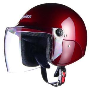 LEAD リード工業 apiss AP-603 セミジェットヘルメット 0SS-GCAP603-R(レッド)|teito-shopping