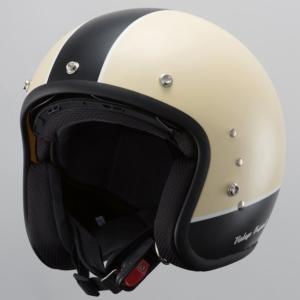 【OWL(アウル)】 TT380 インナーシールド付ジェットヘルメット ビンテージアイボリー  【0SSGJHSJY1】|teito-shopping