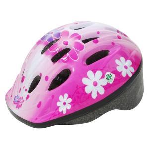 4510676240090  PALMY パルミー   P-MV12 パルミーキッズヘルメット  フラワー/ピンク M22  子供用 女の子用 男の子用 キッズ用自転車ヘルメの画像