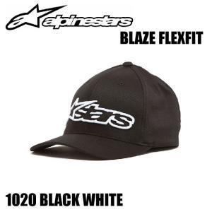 【Alpinestars(アルパインスターズ)】 BLAZE FLEXFIT キャップ BK/WHT S-M ブレイズ フレックスフィット 帽子 黒白 S-M 【ALPBLFXBKSM】|teito-shopping