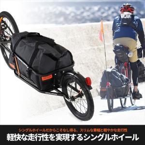 【4589946138306】【送料無料】【ドッペルギャンガー】 簡単脱着 シングルホイールサイクルトレーラー DCR363-DP 60Lの防水バッグ付属  【代引き、|teito-shopping
