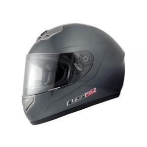 【送料無料】【LS2】 マーズ (MARS) メタリックグレー フルフェイスヘルメット UVカットシールド・バイザー標準装備 【SG規格取得・公道走行可】|teito-shopping