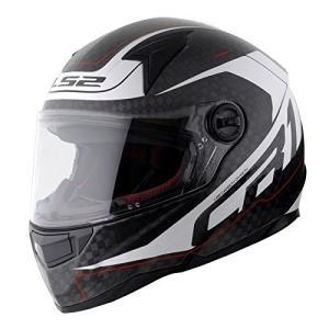 【LS2】 ディアブロ (DIABLO) ホワイト カーボン フルフェイスヘルメット UVカットシールド・バイザー標準装備 【SG規格取得・MFJ公認】|teito-shopping