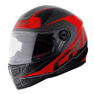【LS2】 ディアブロ (DIABLO) レッド カーボン フルフェイスヘルメット UVカットシールド・バイザー標準装備 【SG規格取得・MFJ公認】|teito-shopping