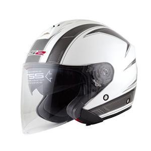 【LS2】 フリーウェイ (FREEWAY) エスプリホワイト ジェットヘルメット UVカットシールド・バイザー標準装備 【SG規格取得・公道走行可】|teito-shopping