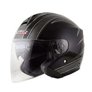 【LS2】 フリーウェイ (FREEWAY) エスプリブラック ジェットヘルメット UVカットシールド・バイザー標準装備 【SG規格取得・公道走行可】|teito-shopping