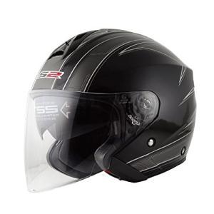 送料無料  LS2  フリーウェイ  FREEWAY  エスプリブラック ジェットヘルメット UVカットシールド・バイザー標準装備  SG規格取得・公道走行可|teito-shopping