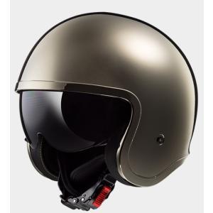 【送料無料】【LS2(エルエスツー)】 国内正規品 SG認定 インナーバイザー付 ジェットヘルメット SPITFIRE(スピリットファイヤ) レトロ 色:クローム 【|teito-shopping