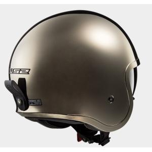 【LS2(エルエスツー)】 国内正規品 SG認定 インナーバイザー付 ジェットヘルメット SPITFIRE(スピリットファイヤ) レトロ 色:クローム 【レトロなルッ|teito-shopping|02